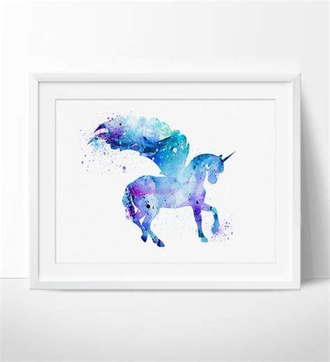 unicorn home decor unicorn watercolor print unicorn art print watercolor