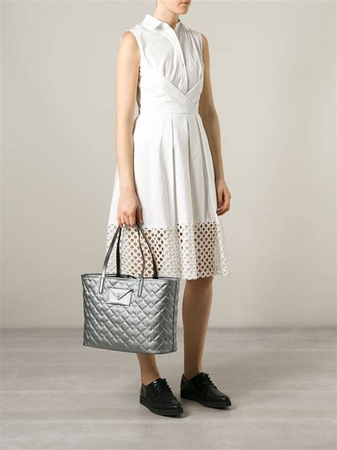 Marc By Marc Quilted marc by marc metropolitote quilted metallic tote