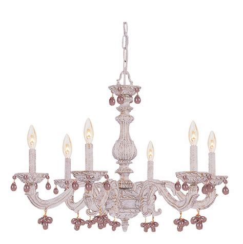 White Antique Chandelier Antique White Wrought Iron Large Chandelier With