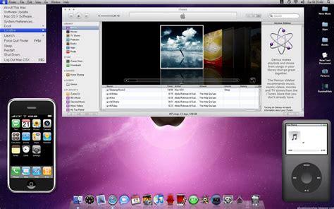 pc themes mac realistic mac osx for windows 7 desktop themes