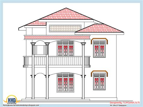 Floor Plan And Elevation Drawings by Home Plan And Elevation 2318 Sq Ft Home Appliance