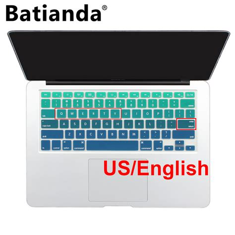 Gradient Keyboard Protection Aksesoris Macbook Mac Book Laptop gradient ombre colors us layout keyboard cover silicone