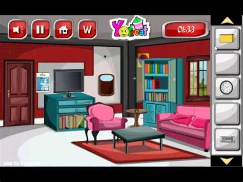 living room escape walkthrough glitter red living room escape game walkthrough youtube
