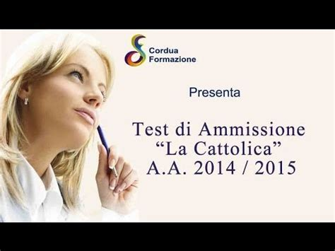 test cattolica 2014 test quot la cattolica quot a a 2014 2015