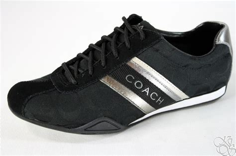 coach jayme signature black womens sneakers shoes new