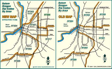map of salem oregon zip codes salem oregon zip codes map