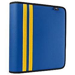 Office Depot Zipper Binder Tug 3 Ring Zippered Binder 2 Rings Assorted Colors By