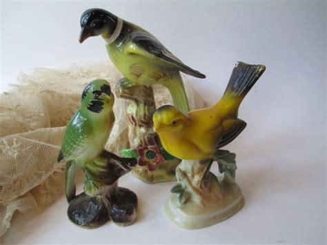 Vintage Kitsch Cigar Box Parrot Vintage Ceramic Bird Figurine Collection Of Three So Kitsch