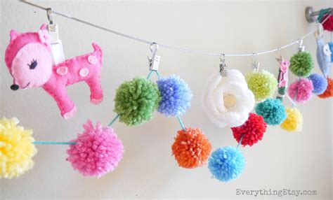 How To Make Paper Pom Pom Garland - pom pom garland pretty