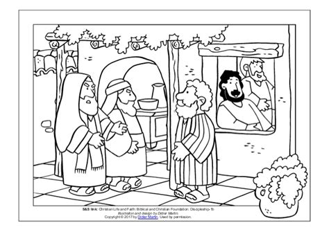 matthew the tax collector coloring pages of jesus sees