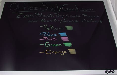 write on black paper black erase board and neon erase markers by expo