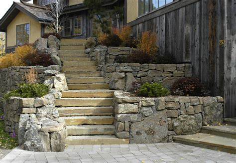 Rock Retaining Wall Hsm Landscaping Edmonton Ab Retaining Walls