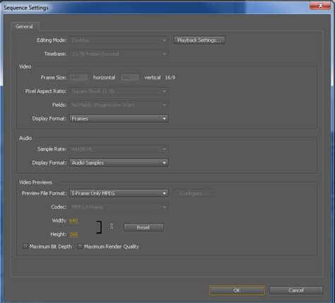format file adobe premiere video adobe premiere cs5 match sequence settings but