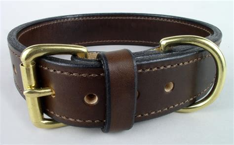 plain handmade leather collars