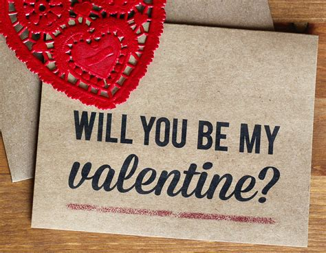 would you be my valentines card will you be my eco friendly