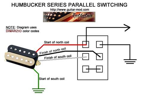 humbucker parallel wiring wiring diagram gw micro