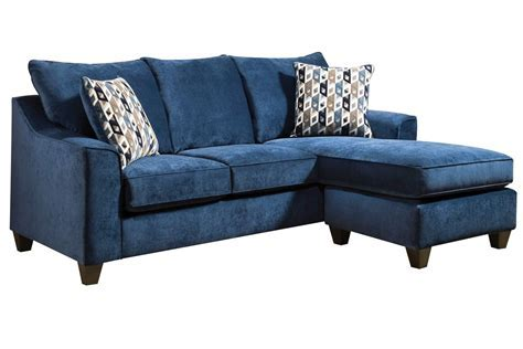 Elizabeth Sofa in Blue with Moveable Chaise at Gardner White