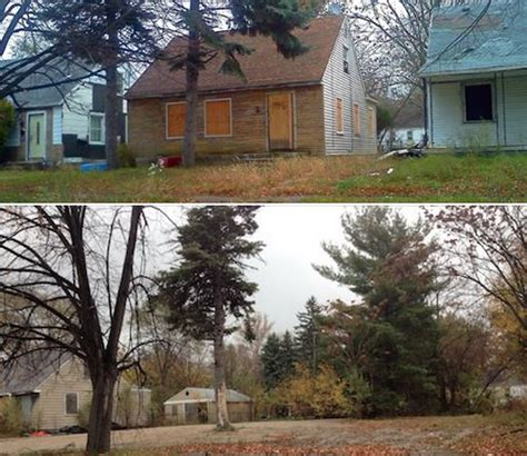 eminem childhood house inside eminem s detroit childhood home lot stays empty year