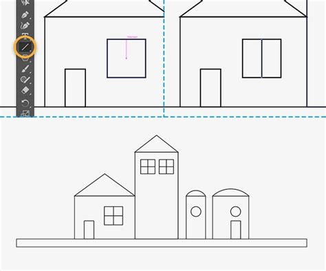 draw house illustrator how to draw buildings in illustrator adobe illustrator