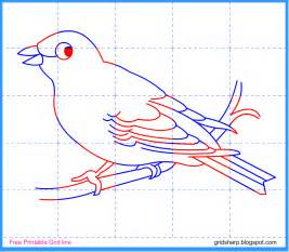 Grid Drawing Online Free Grid Line Printable Canary Grid Line Drawing