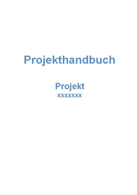 projekthandbuch vorlage muster und vorlagen kostenlos