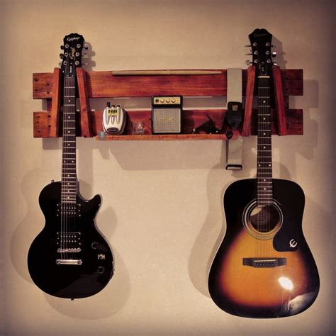 Guitar Rack Wood by 1000 Ideas About Guitar Wall On Guitar Wall