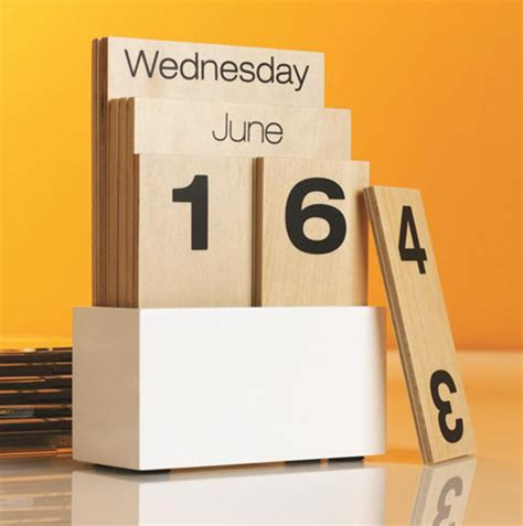 Modern Desk Calendar with Shuffle Calendar Modern Desk Accessories By See Work