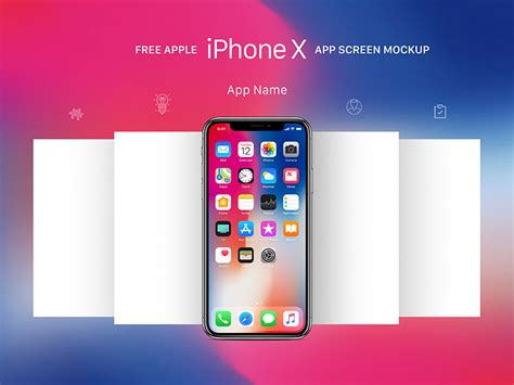 app mockup template free apple iphone x app screen mockup psd by mockups