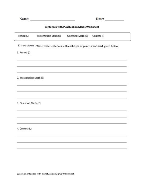 Punctuation Marks Worksheets by 15 Best Images Of Worksheets Pdf Alphabets