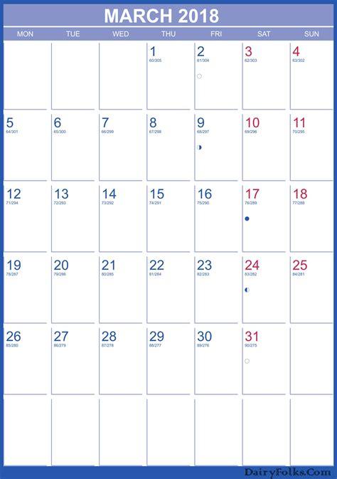 printable calendar 2018 landscape march 2018 landscape portrait calendar printable
