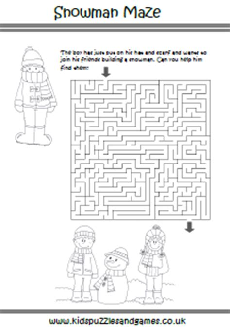 printable mitten maze winter mazes kids puzzles and games