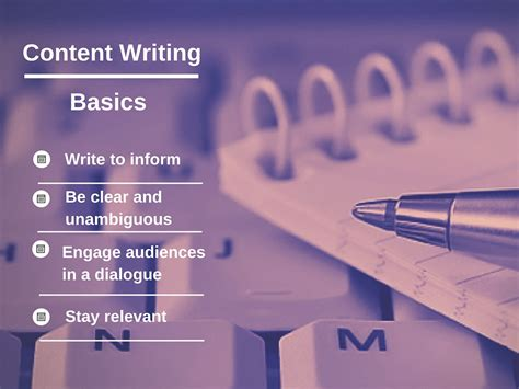 A Sample Lesson From The Course Content Writing In The