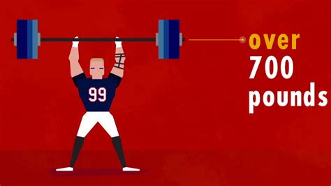 jj watt bench press j j watt is not human nfl infographic youtube