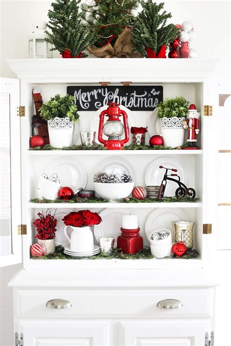 curio cabinet christmas decorating ideas 25 best ideas about hutch decorating on hutch