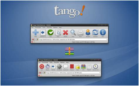 download themes windows 7 rar tango 7 zip theme and winrar theme cleodesktop mod