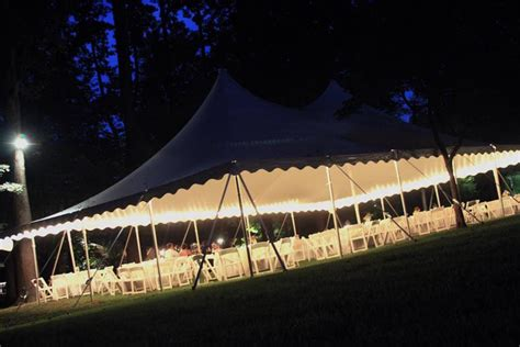 Oconee Events Pole Tent With String Lights At John Tent String Lights