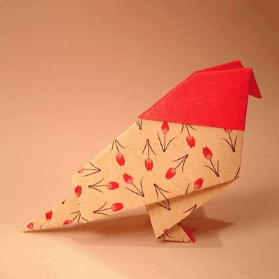 Folded Paper Birds - paper bird how to make a traditional bird origami