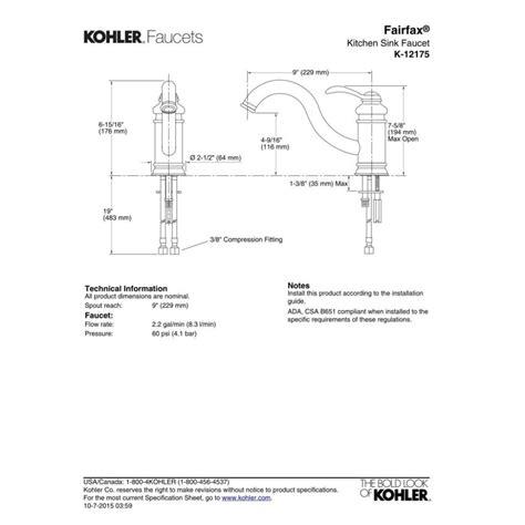 repairing a kitchen faucet repairing kohler kitchen faucet