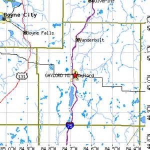 Gaylord Michigan Map by Gaylord Michigan Mi Population Data Races Housing