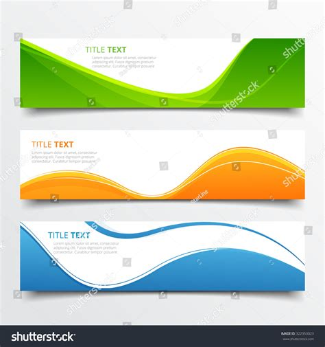 header design stock photos images pictures shutterstock set abstract wave vector headers design stock vector