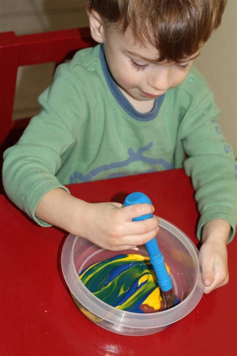 paint mixing videos art playgroup paint mixing and potato sting the