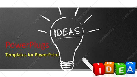 Powerpoint Template Chalkboard Blackboard With Chalk And Light Bulb With Ideas 3d Colorful Chalkboard Powerpoint Templates Free