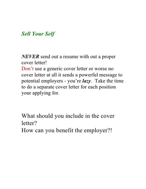 good cover letter example 1