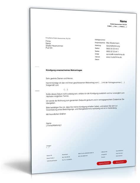 mietverträge wohnung k 252 ndigung mietvertrag wohnung kaution k 252 ndigung vorlage