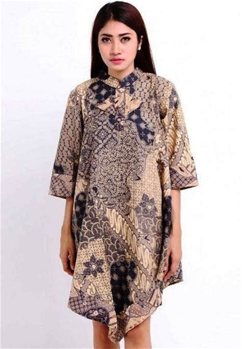 Dress Atasan Blouse Baju Batik Fashion Wanita Naya Alshort ッ 40 model baju batik wanita atasan lengan panjang