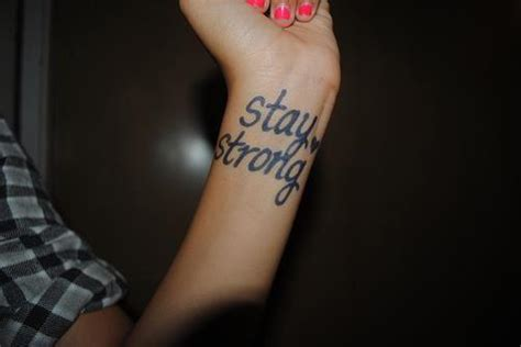 xanga tattoo pictures girl hand stay stay strong image 635781 on favim com