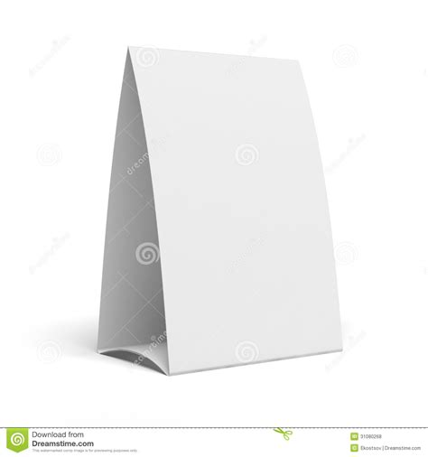 table tent template publisher table tent stock illustration image of talker restaurant