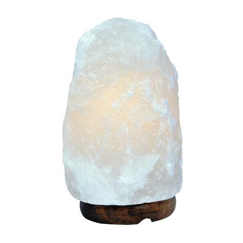globe electric     lbs white himalayan salt lamp