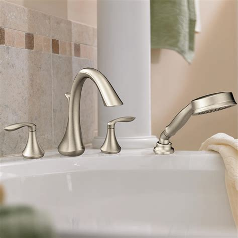 Changing A Shower Faucet Moen T944 Eva Two Handle High Arc Roman Tub Faucet And