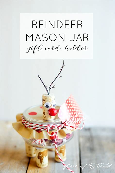 Reindeer Gift Card Holder - reindeer mason jar gift card holder 7 more
